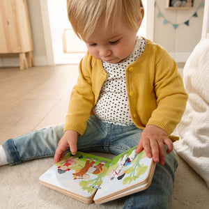 The Stables | Wooden Baby Book | Baby's First Book Toy | HABA | Lifestyle: Baby Reading Wooden Book | BeoVERDE.ie