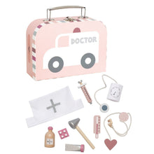 Load image into Gallery viewer, JaBaDaBaDo Doctor's Case Pink | Wooden Pretend Play Toy | Front View | BeoVERDE.ie