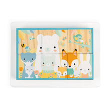 Load image into Gallery viewer, Janod Pure 6 Wooden Blocks Tray | Wooden Toddler Activity Toy | Top View – Animal Group | BeoVERDE.ie