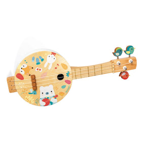Janod Pure Bajo | Musical Toy | Wooden Toddler Activity Toy | Front View | BeoVERDE.ie