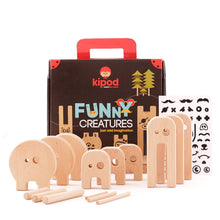 Load image into Gallery viewer, Kipod Toys Funny Creatures | Creative Wooden Toy Play Set | Wooden Assembly Puzzle & Game | Front View – All Items | BeoVERDE.ie