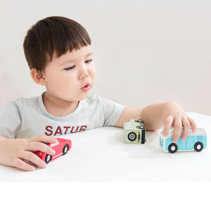 New Classic Toys Wooden Shape Sorter Truck | Baby & Toddler Activity Wooden Toy | Lifestyle - Boy Playing on Table | BeoVERDE.ie