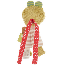 Load image into Gallery viewer, Sigikid Organic Frog Rattle and Teether | Back | BeoVERDE.ie