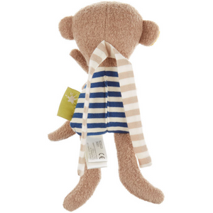 Sigikid Organic Monkey Rattle and Teether | Back | BeoVERDE.ie