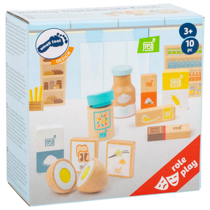 Small Foot Baking Ingredients Set | Wooden Pretend Play Toys | Packaging | BeoVERDE.ie