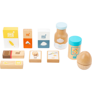 Small Foot Baking Ingredients Set | Wooden Pretend Play Toys | Item View | BeoVERDE.ie
