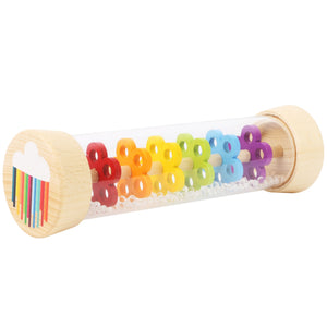 Small Foot Rainbow Rainmaker Rattle | Baby & Toddler Activity Toy | Horizontal View | BeoVERDE.ie