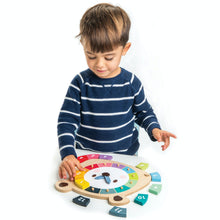 Load image into Gallery viewer, Tender Leaf Bear Colours Clock | Hand-Crafted Wooden Educational Toy | Boy Playing | BeoVERDE.ie