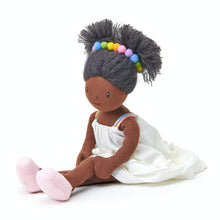Load image into Gallery viewer, ThreadBear Design Esme Rainbow Rag Doll | Hand-Crafted Rag Doll | Soft Cotton Children's Doll | Front View – Rag Doll Marty Sitting | BeoVERDE.ie