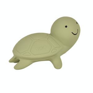 TIKIRI Natural Rubber Rattle & Bath Toy 'Turtle' | Right View | BeoVERDE.ie