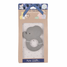 Load image into Gallery viewer, TIKIRI Natural Rubber Baby Teether 'Elephant' | Packaging | BeoVERDE.ie