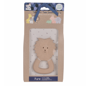 TIKIRI Natural Rubber Baby Teether 'Lion' | Packaging | BeoVERDE.ie