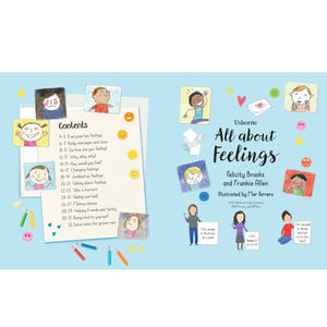 All About Feelings | Children's Book on Feelings and Emotions | Usborne | Content Page | BeoVERDE.ie