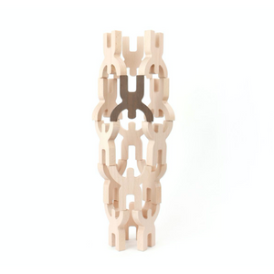 Bajo Mendelsons Balancing & Stacking Toy | 15 Wooden Figures | Tower | BeoVERDE.ie