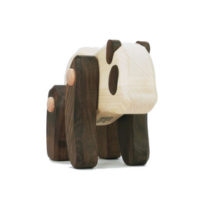 TOBE Wooden Panda | Movable Arms & Legs | Front-View | BeoVERDE.ie