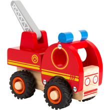 Load image into Gallery viewer, Small Foot Wooden Fire Engine | Ladder Lifted Up | BeoVERDE.ie