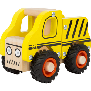 Small Foot Wooden Construction Site Vehicle | Front Side View Left | BeoVERDE.ie