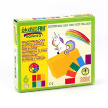 Load image into Gallery viewer, okoNORM Child-Safe Natural Wax Blocks | 6 Vibrant Colours | Box | BeoVERDE.ie