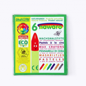 okoNORM Child-Safe Natural Wax Crayons | 6 Vibrant Colours | Box | BeoVERDE.ie