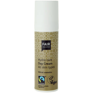 FAIR SQUARED Hydro Care Day Cream | Fairtrade Vegan Natural Halal | Dispenser | BeoVERDE.ie