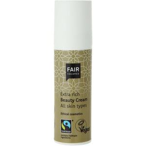 FAIR SQUARED Extra Rich Beauty Cream | Fairtrade Vegan Natural Halal | Dispenser | BeoVERDE.ie