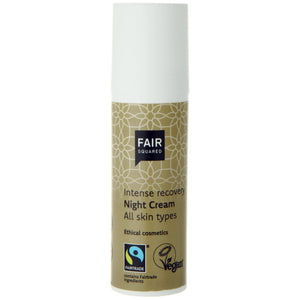 FAIR SQUARED Intense Recovery Night Cream | Fairtrade Vegan Natural Halal | Dispenser | BeoVERDE.ie