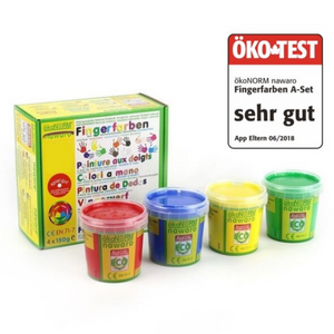 Child-Safe Natural Finger Paint | 4 Vibrant Colours | Product Closeup | BeoVERDE.ie