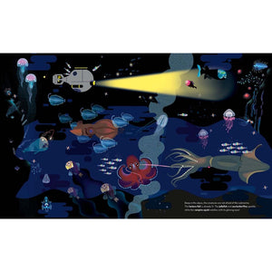 Deep in the Ocean | Children's Picture Book on Marine Life | Abrams Appleseed | Sample Page Submarine | BeoVERDE.ie
