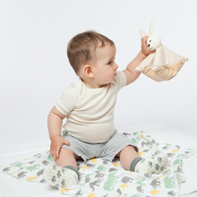 Load image into Gallery viewer, Large Warming Pillow for Babies | Rabbit | Organic Flax Seeds and Organic Cotton | Baby with Warming Pillow | BeoVERDE.ie