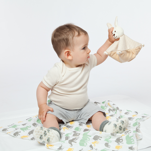 Large Warming Pillow for Babies | Rabbit | Organic Flax Seeds and Organic Cotton | Baby with Warming Pillow | BeoVERDE.ie
