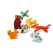 Load image into Gallery viewer, Janod Forest Puzzle With 7 Different Animals | Wooden Toddler Activity Toy | 7 Animals | BeoVERDE.ie