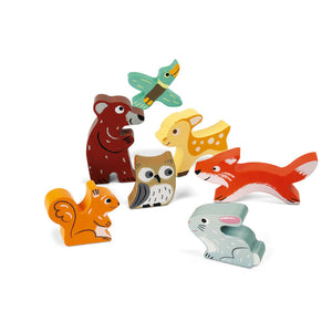 Janod Forest Puzzle With 7 Different Animals | Wooden Toddler Activity Toy | 7 Animals | BeoVERDE.ie