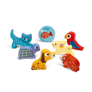 Janod Pets Puzzle With 7 Different Animals | Wooden Toddler Activity Toy | 7 Animals | BeoVERDE.ie