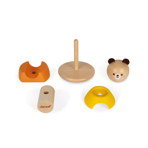 Janod Bear Stacker & Rocker | Wooden Toddler Activity Toy | Parts | BeoVERDE.ie