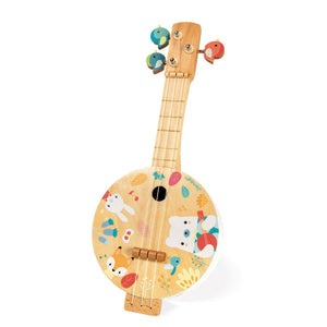 Janod Pure Bajo | Musical Toy | Wooden Toddler Activity Toy | Front View – Upright Right | BeoVERDE.ie