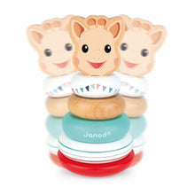 Load image into Gallery viewer, Sophie la girafe Stackable Roly-Poly | Wooden Toddler Activity Toy | Moving | BeoVERDE.ie