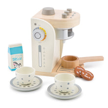Load image into Gallery viewer, New Classic Wooden Coffee Machine Set | Pretend Play Kitchen Toys | Side View | BeoVERDE.ie