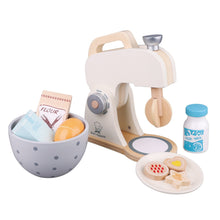Load image into Gallery viewer, New Classic Wooden Mixer Set | Pretend Play Kitchen Toys | Left Side View | BeoVERDE.ie