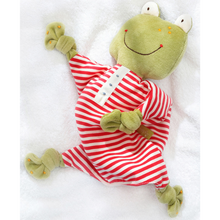 Load image into Gallery viewer, Sigikid Organic Frog Comforter | Baby's First Toy | Lifestyle Front View | BeoVERDE.ie