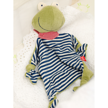 Load image into Gallery viewer, Sigikid Organic Frog Comforter | Baby's First Toy | Lifestyle 2 | BeoVERDE.ie