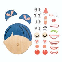 Load image into Gallery viewer, Tender Leaf Toys What's Up? | Wooden Educational Toy | Magnetic Wooden Toy | Overview Face Pieces | BeoVERDE.ie