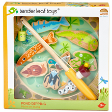 Load image into Gallery viewer, Tender Leaf Wooden Pond Dipping | Hand-Crafted Wooden Educational Toy | Packaging | BeoVERDE.ie