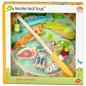 Tender Leaf Wooden Pond Dipping | Hand-Crafted Wooden Educational Toy | Packaging | BeoVERDE.ie