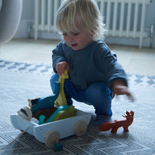 Load image into Gallery viewer, TenderLeaf Noah's Shape Sorter Ark | Hand-Crafted Wooden Animal Toys | Toddler Playing |BeoVERDE.ie
