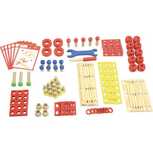 Load image into Gallery viewer, Vilac Wooden Construction Building Set 'Batibloc' | Educational Wooden Toy | All Set Parts | BeoVERDE.ie
