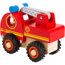 Load image into Gallery viewer, Small Foot Wooden Fire Engine | Rear Side View | BeoVERDE.ie