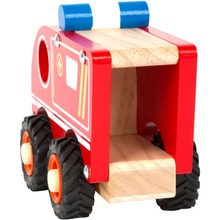 Load image into Gallery viewer, Small Foot Wooden Ambulance | Rear View | BeoVERDE.ie