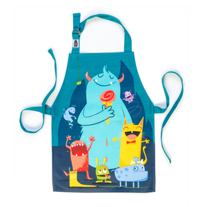 ThreadBear Design Children's Apron 'The Scruffles' | Front View | BeoVERDE.ie