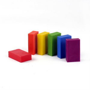 okoNORM Child-Safe Natural Wax Blocks | 6 Vibrant Colours | Unpacked | BeoVERDE.ie