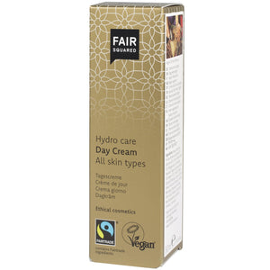 FAIR SQUARED Hydro Care Day Cream | Fairtrade Vegan Natural Halal | Box | BeoVERDE.ie